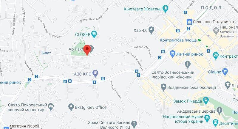 Авария произошла на Лукьяновской