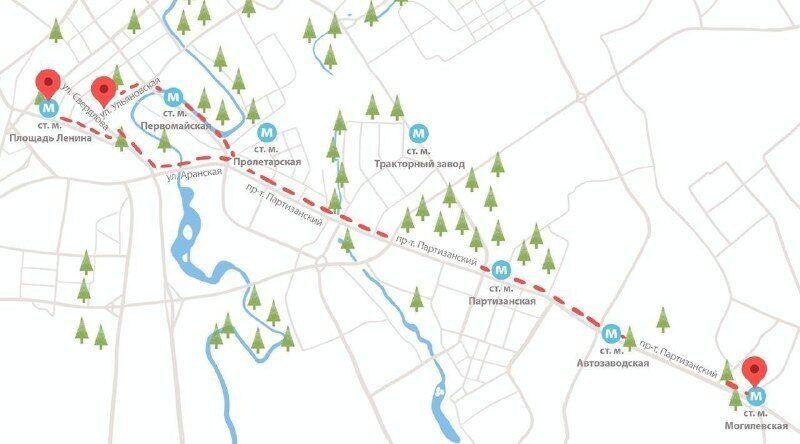 Карта маршрута митинга