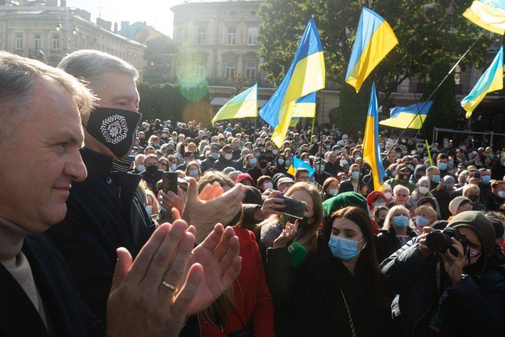 Порошенко на митинге во Львове