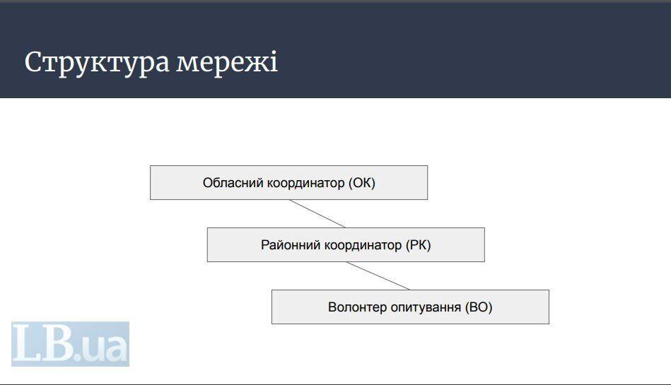 Структура сети, которая будет проводить опрос от Зеленского на выборах