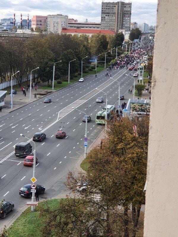 Митинг на Партизанском марше в Минске