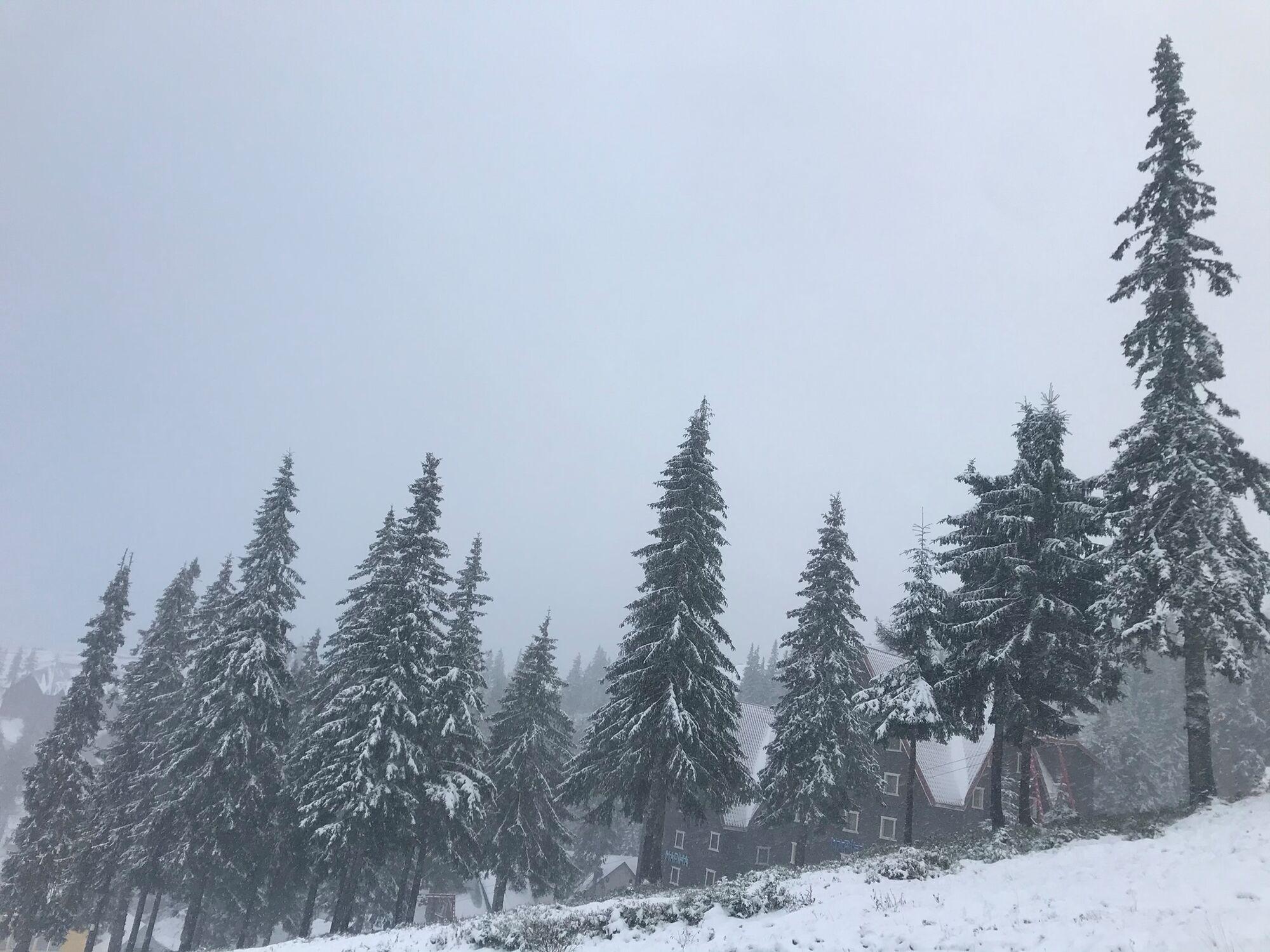 Первый снег на Драгобрате выпал 14 октября