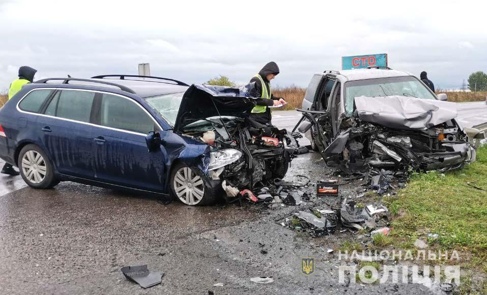Volkswagen зіткнувся на зустрічній з Honda