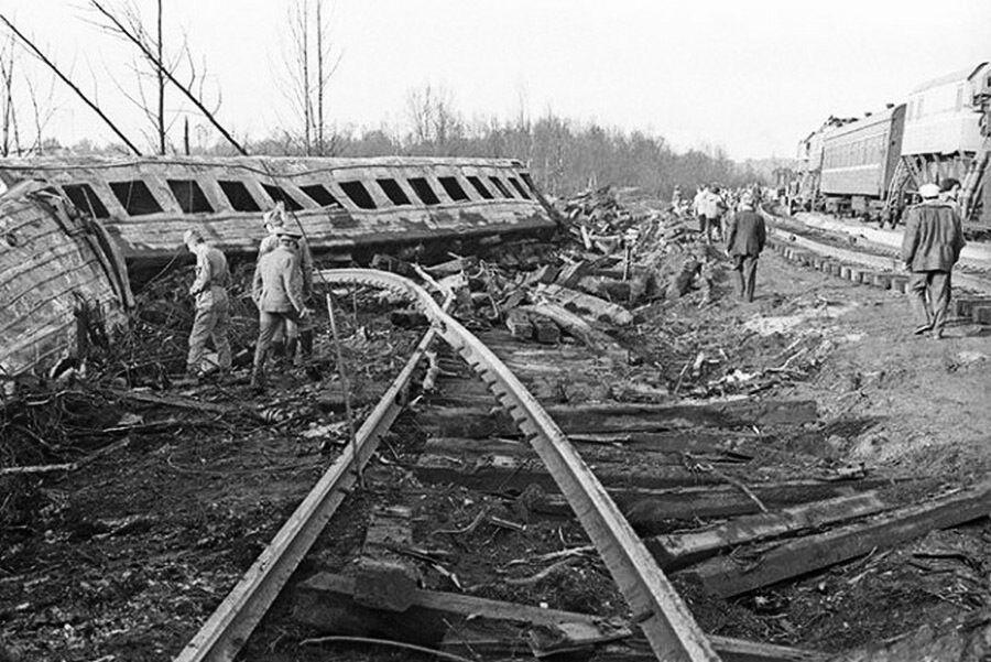 Одна из аварий поезда в СССР