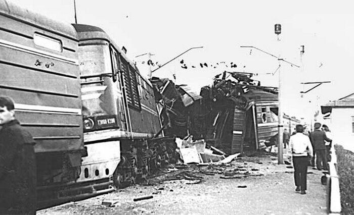 В СССР случалось немало аварий на железной дороге