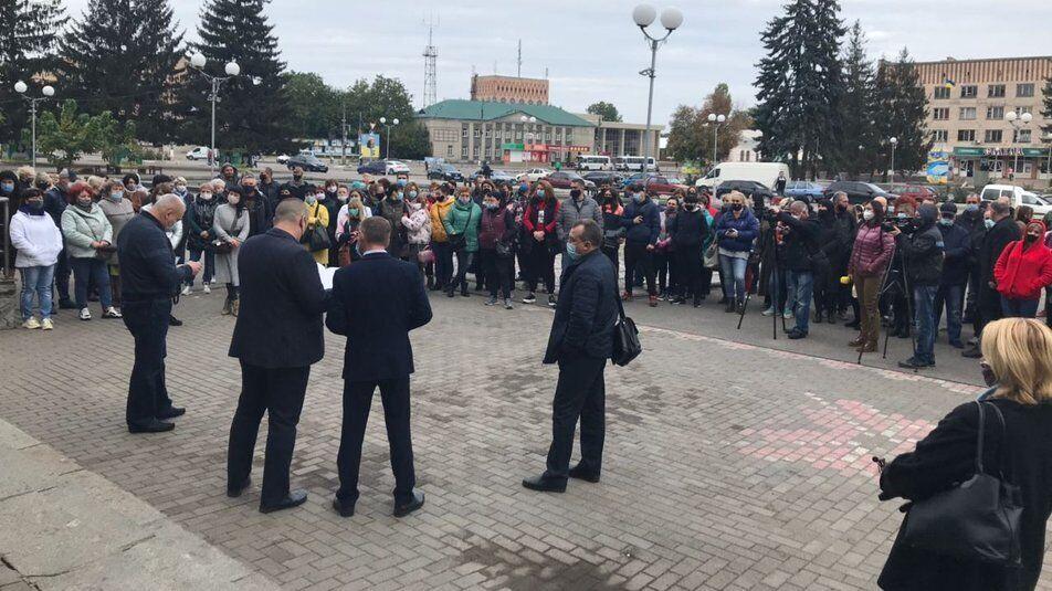 Протест против карантина в Смеле