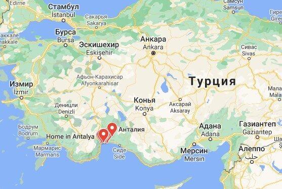 Провінція Анталья розташована на півдні Туреччини.