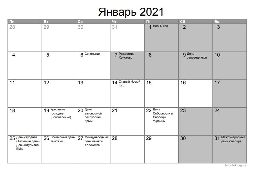 В январе украинцы отмечают Новый год и Рождество Христово: в связи с праздниками предусмотрены дополнительные выходные