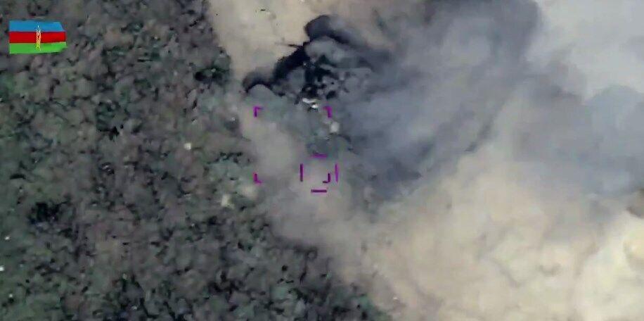 Беспилотники нанесли удар по танкам Армении.