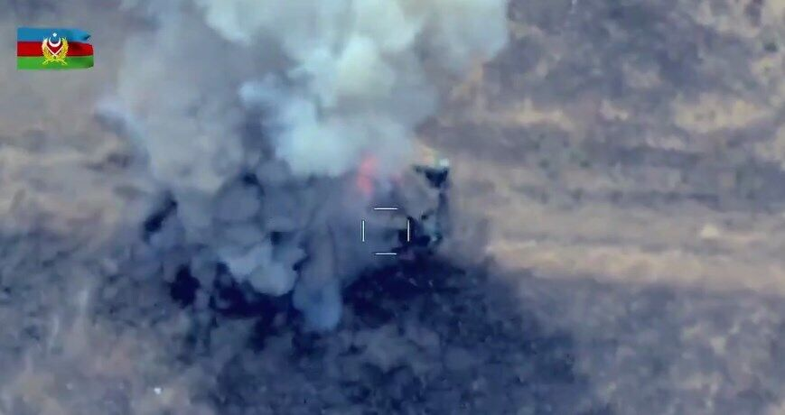 Уничтожение армянского танка.