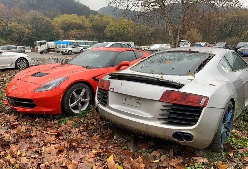 Автомобильная свалка в Китае. Фото: