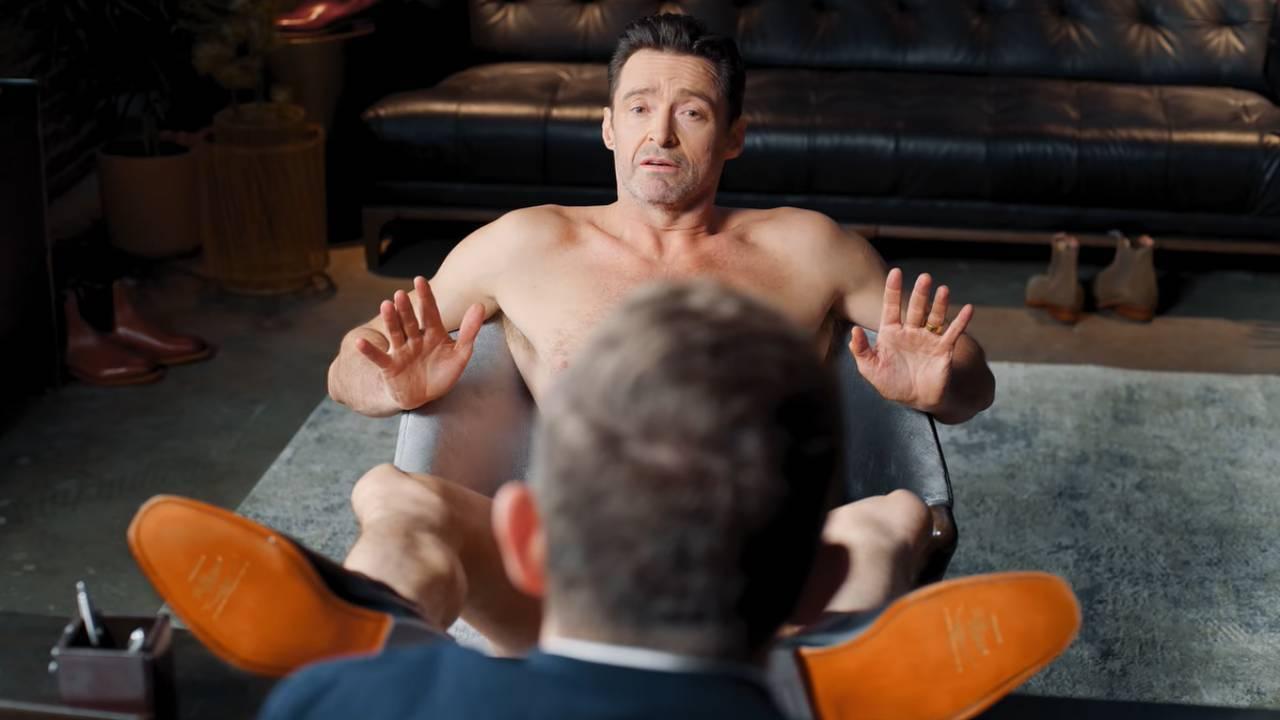 Х'ю Джекман знявся голим рекламі взуття. скріншот з відео