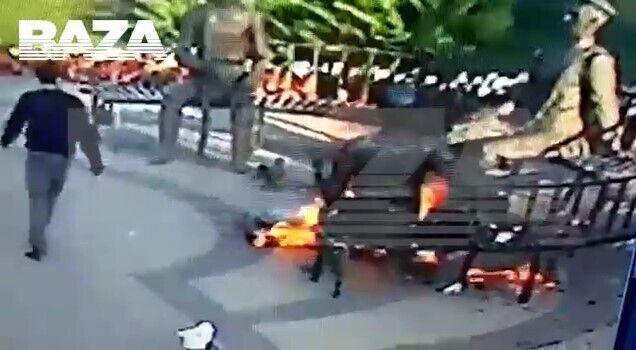 Перехожий не зміг загасити вогонь.