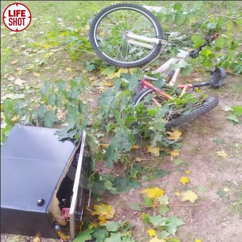 Велосипед, на котором вывалился мужчина.