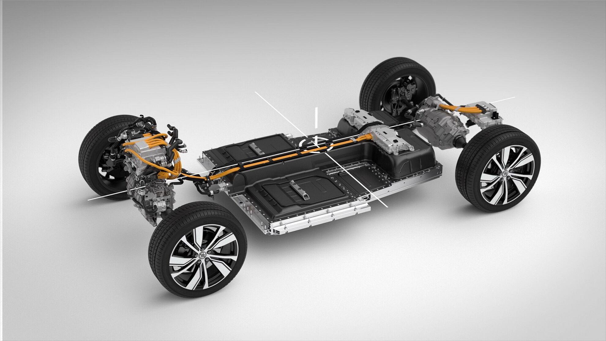XC40 Recharge побудований на модельної платформі CMA, створеної в кооперації з материнським холдингом Geely Group. фото: