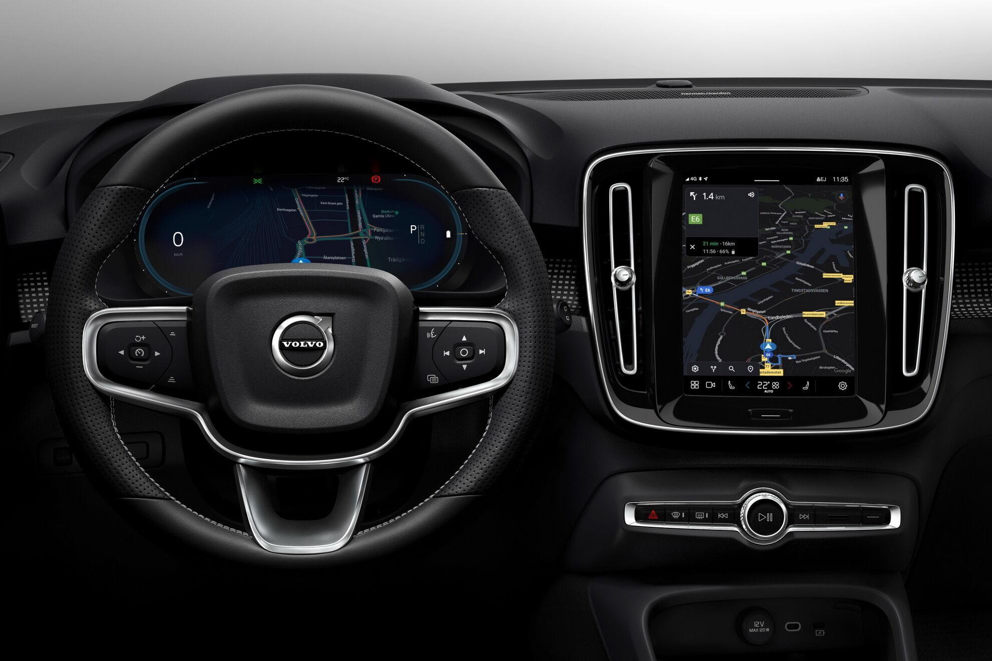 """Volvo XC40 Recharge отримав """"просунуту"""" мультимедійну систему, яка працює на ОС Android. фото:"""