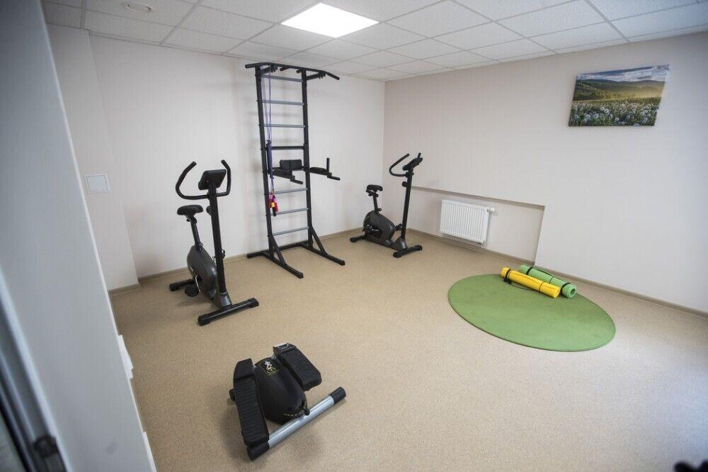 В обновлённом отделении обновили фитнес-зал