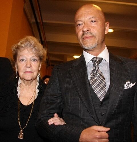 Ирина Скобцева с сыном Федором Бондарчуком