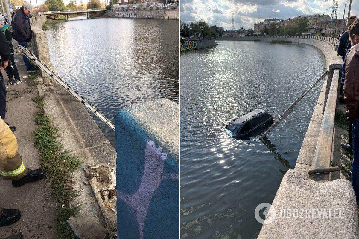 Дівчину й авто дістали з річки після ДТП