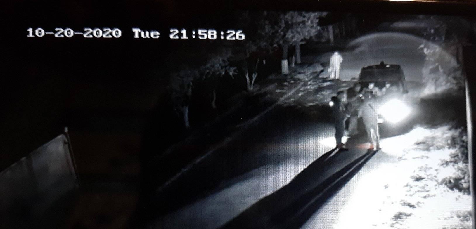 Кадр видео с камеры наблюдения