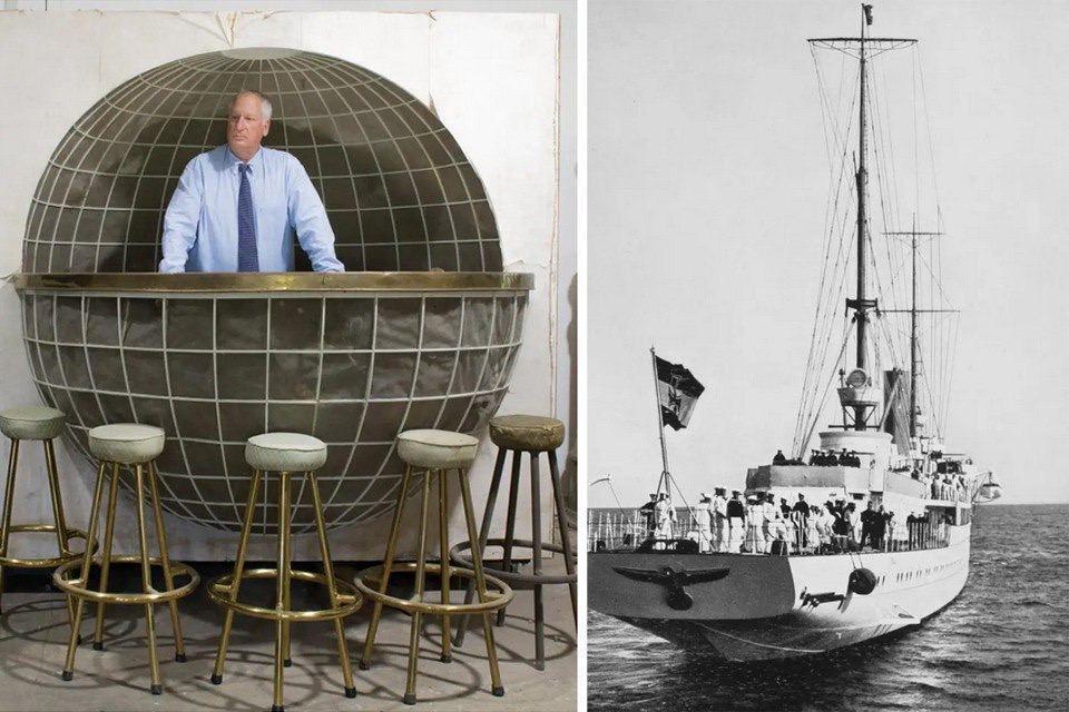 Фермер зі США виставив на аукціон барну стійку з особистої яхти Гітлера. Фото