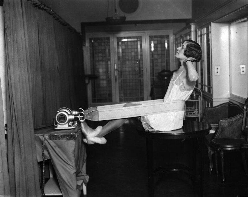Вибромассажер в Берлинском институте Цандера, 1928 год