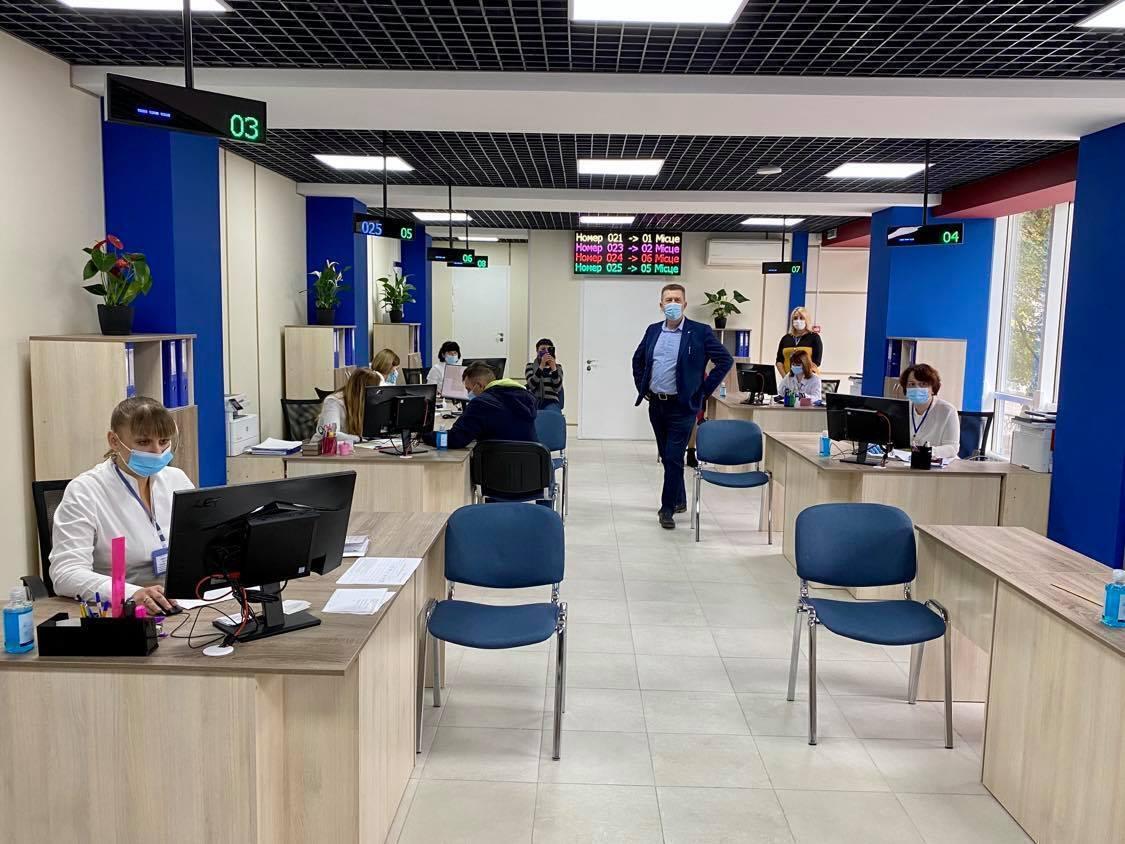Обновленное отделение Центрального управления социальной защиты населения Днепровского городского совета