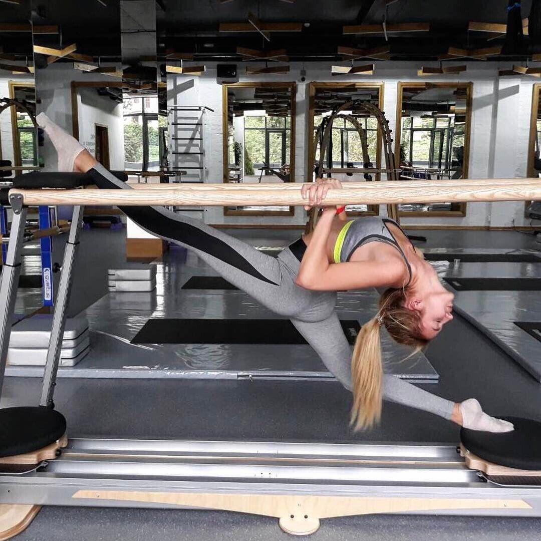 Анастасія Павелко в спортзалі