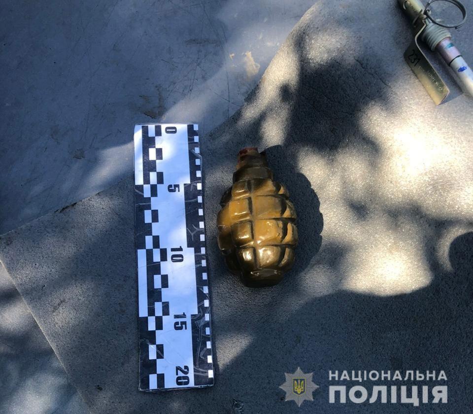 В автомобиле одного из подозреваемых обнаружили гранату Ф-1