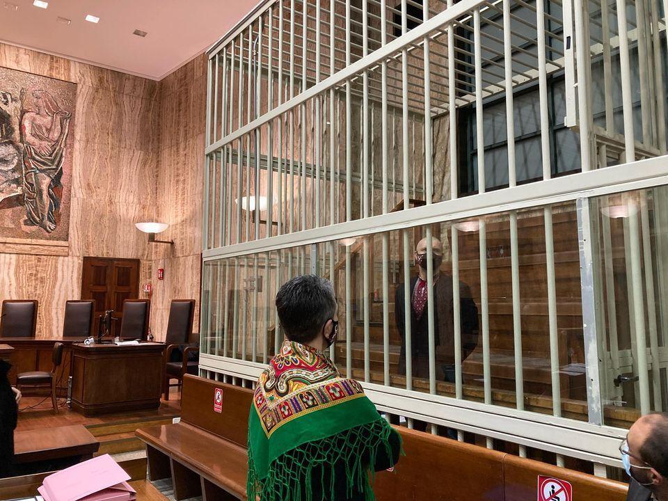 Оксана Максимчук пришла поддержать сына в суде