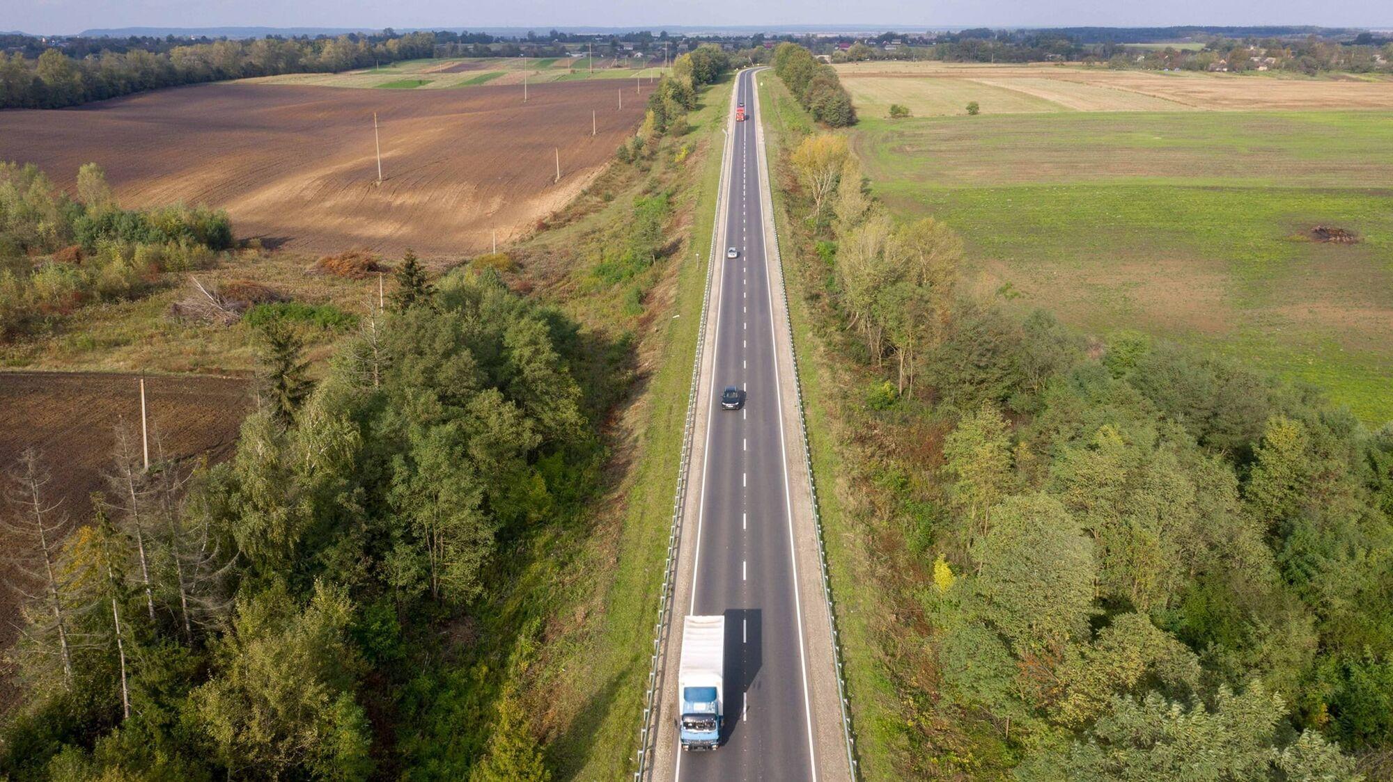 Отремонтированный участок трассы М-19 – объездная Кременца и участок на 271-283 км