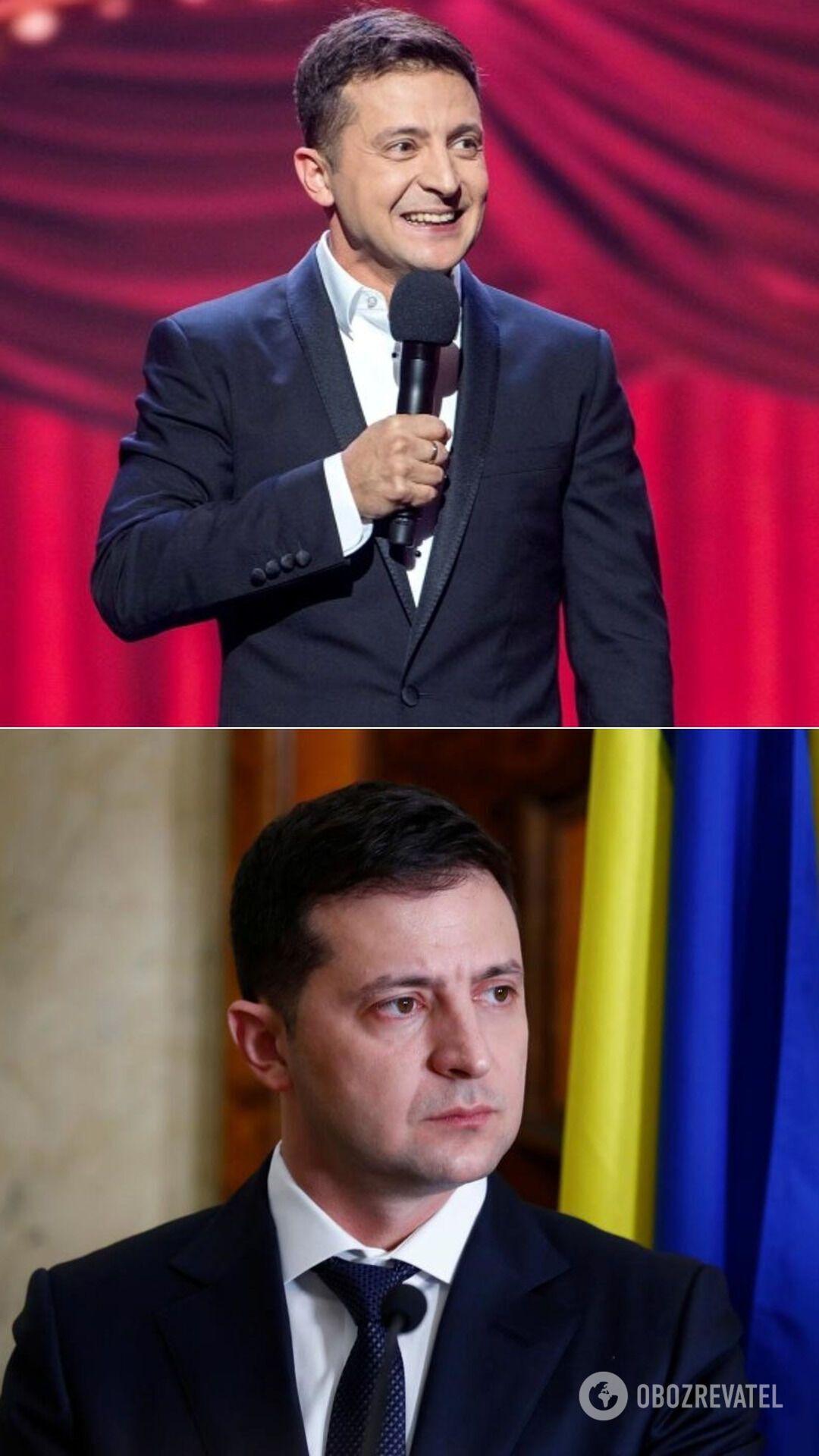 Президент Украины Владимир Зеленский – бывший комик и шоумен