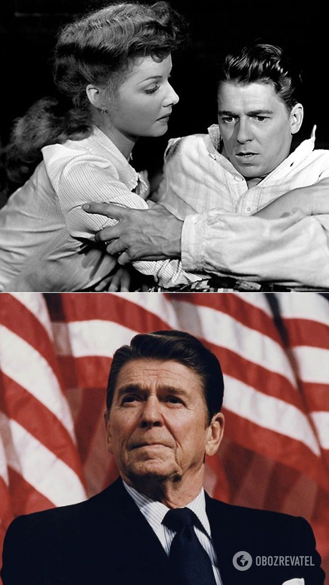 Актер и радиоведущий Рональд Рейган – 40-й президент США (1981-1989 гг.), 33-й губернатор штата Калифорня (1967-1975 гг.)