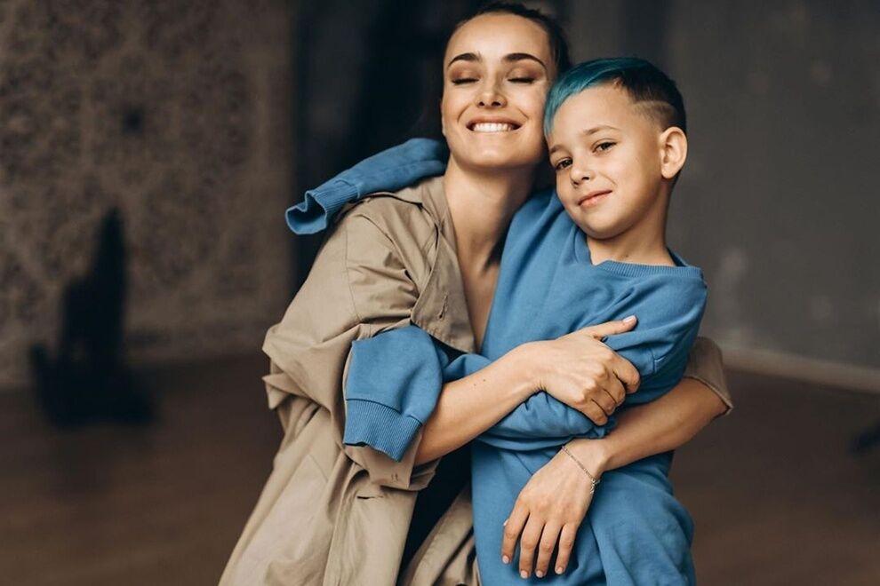 Ксения Мишина и ее сын Платон.