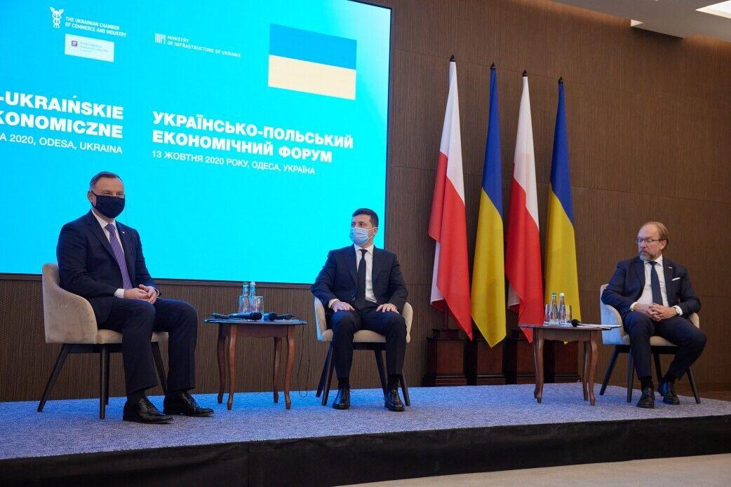 Дуда и Зеленский на форуме в Одессе