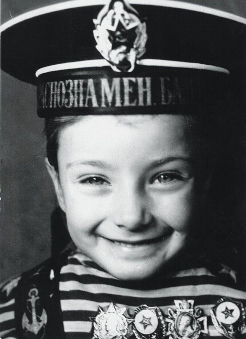 Ксения Мишина в детстве.