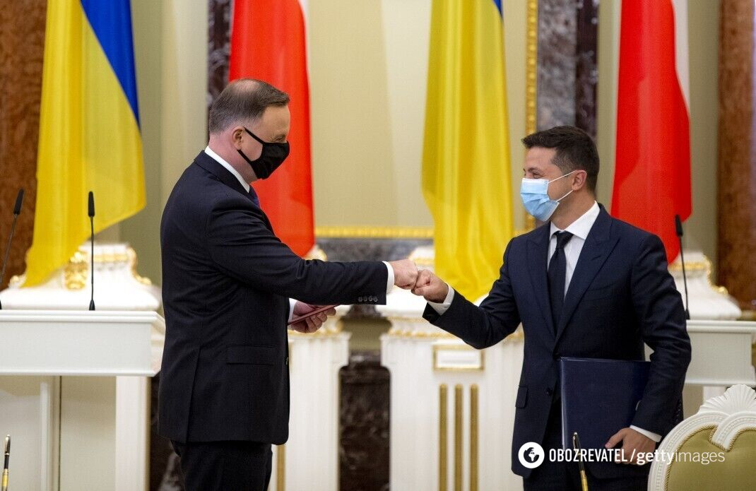 Анджей Дуда и Владимир Зеленский