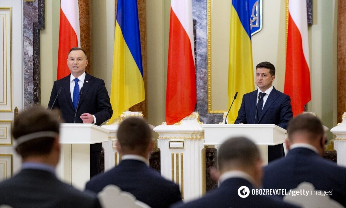 Дуда и Зеленский на пресс-конференции