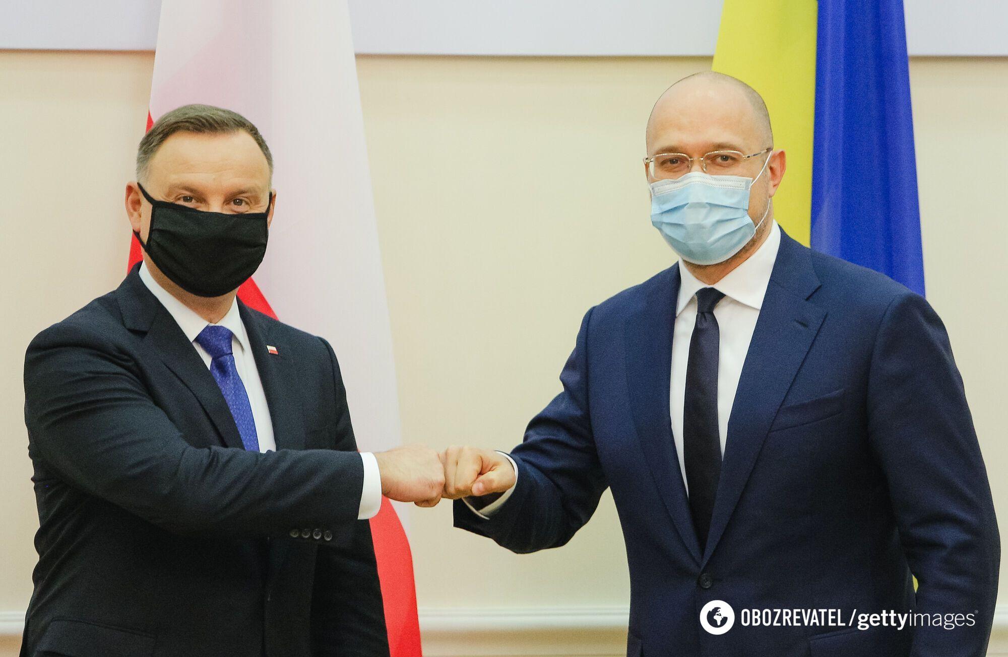Анджей Дуда и Денис Шмыгаль