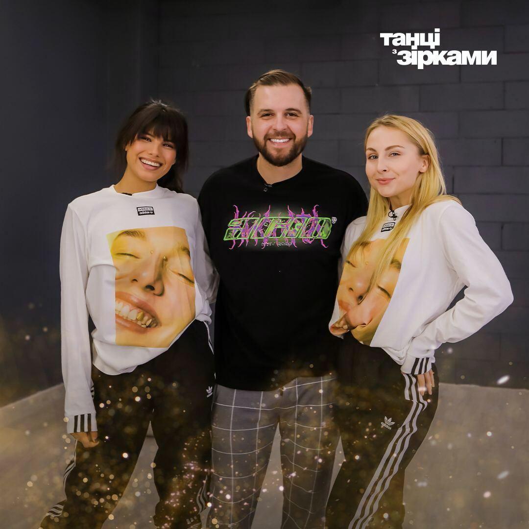 Сергей Танчинец, Яна Цибульская и Мишель Андраде.