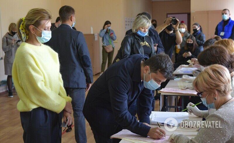 Зеленские проголосовали на выборах