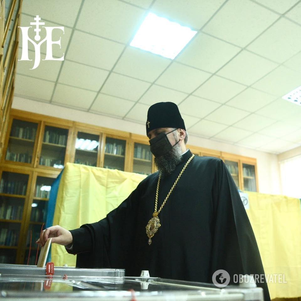 Митрополит Єпіфаній вже проголосував на місцевих виборах