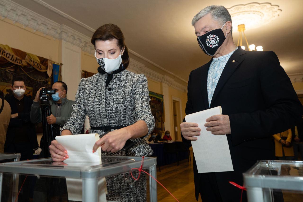 Петр и Марина Порошенко проголосовали на выборах