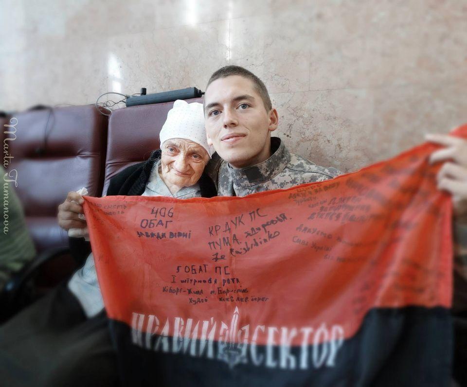 Бійці знали Людмилу Савченко як бабусю Люду