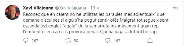 Хави Вилажоана наехал на арбитра