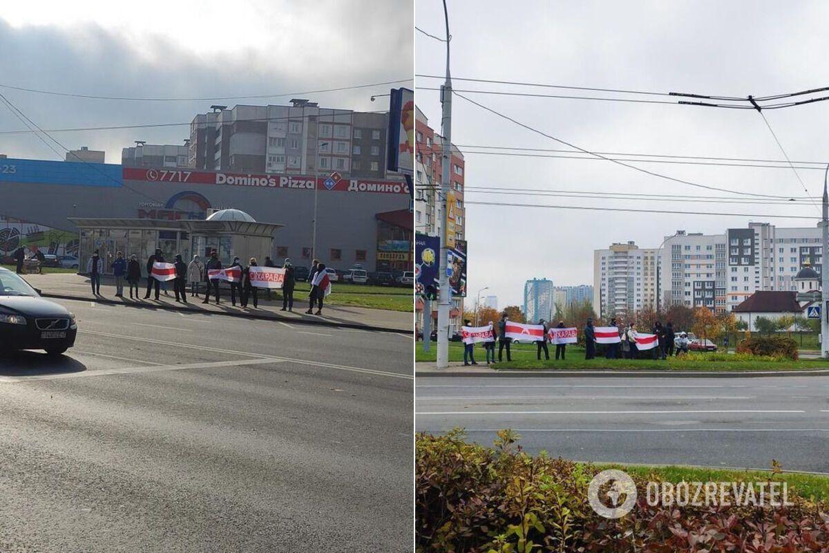 Минчане вышли на протест в Сухарево