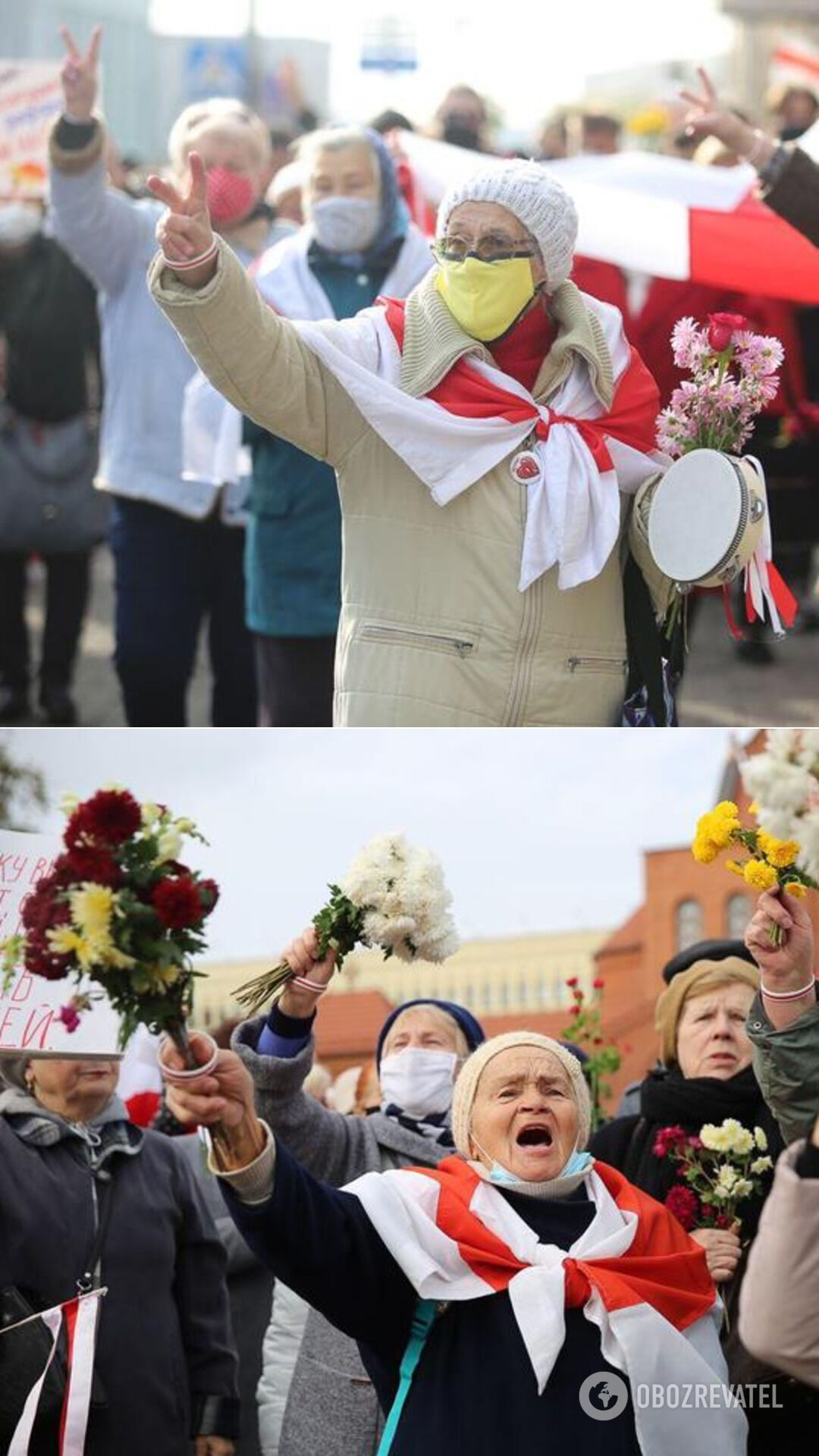 Марш пенсионеров у Красного костела