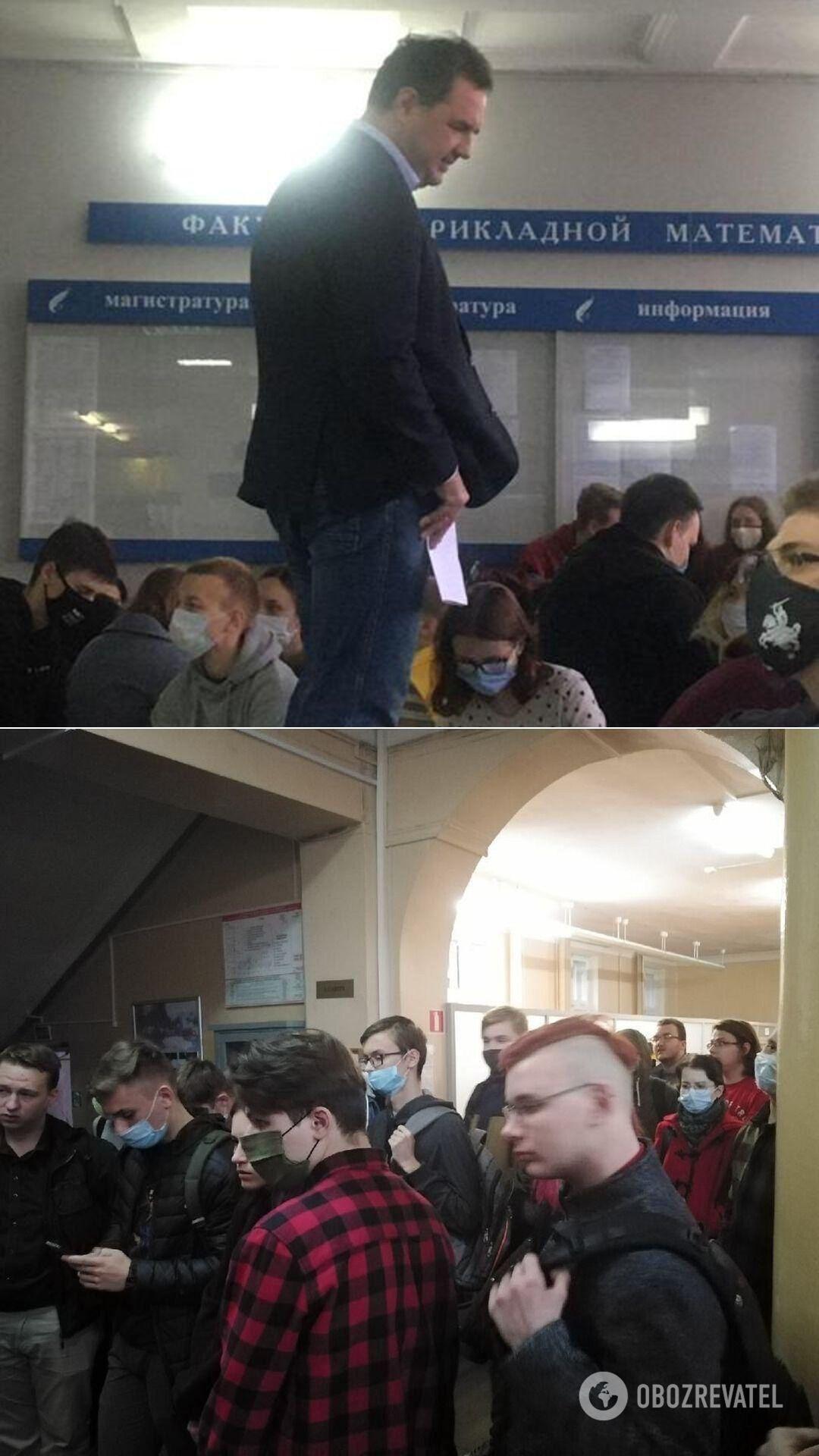 Декан ФПМИ БГУ и истфак университета, который собирался в своем корпусе на забастовку