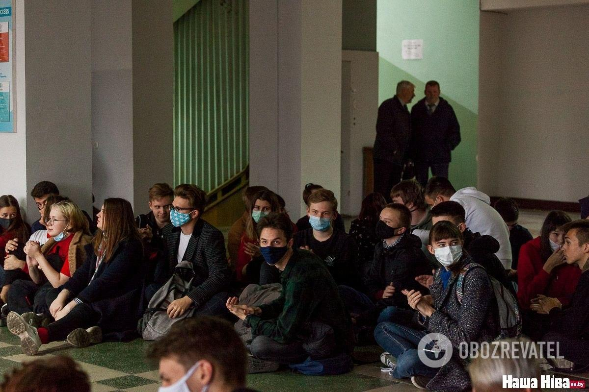 Сидячая забастовка студентов БГУ