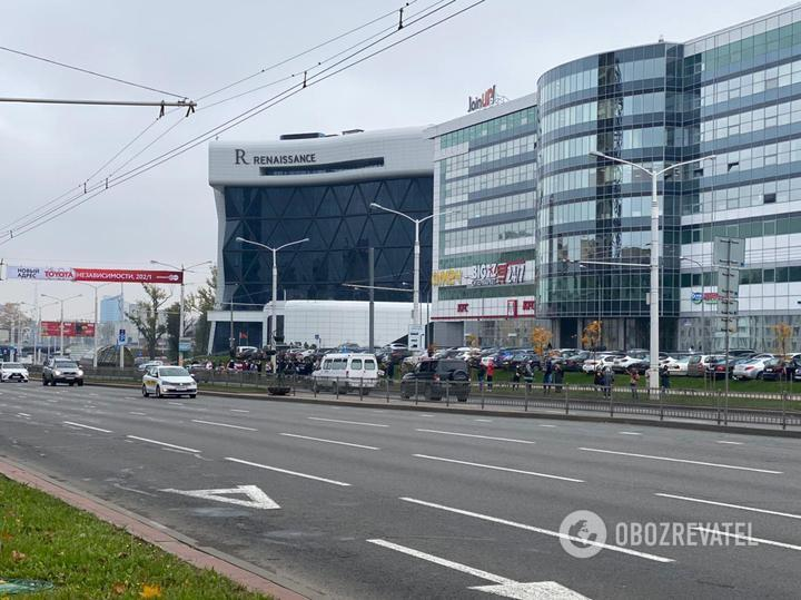 Силовики разогнали цепь солидарности в Минске